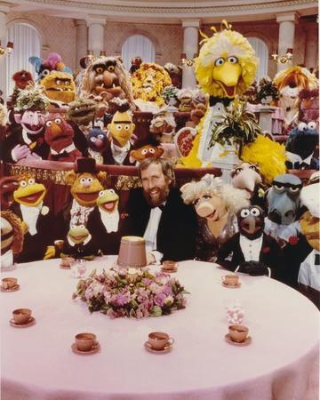 Jim Henson Dining with Sesame Street Cast