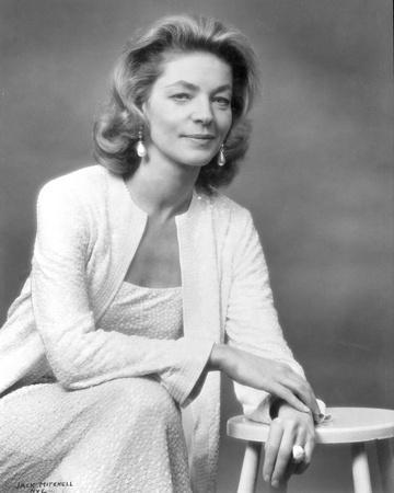Lauren Bacall Posed in Black and White