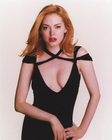 Rose McGowan Posed in Black Dress