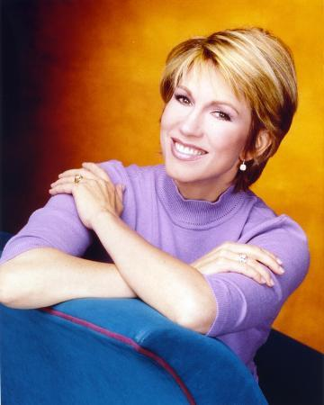 Leeza Gibbons Close Up Portrait in Purple Sweater