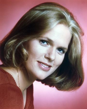 Sharon Gless Close Up Portrait with Red Background