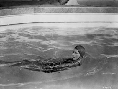 Greta Garbo Swimming Backstroke