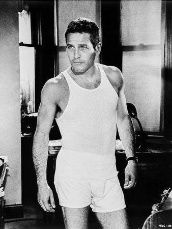 Paul Newman in Gym Outfit Black and White