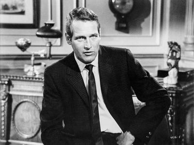 Paul Newman Seated in Classic