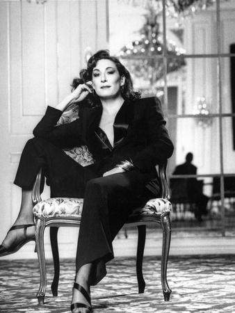 Anjelica Huston Seated in Classic
