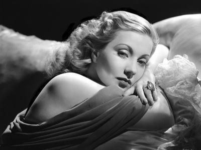 Ann Sothern Lying on the Bed