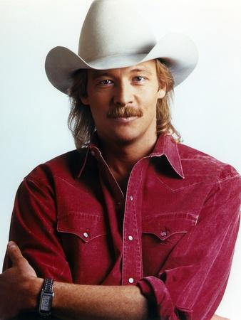 Alan Jackson wearing Red Long Sleeves in Close Up Portrait