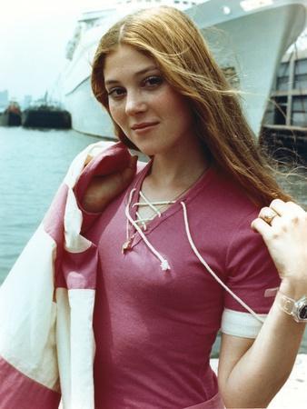 Audrey Landers Portrait in Pink Top at the Pier