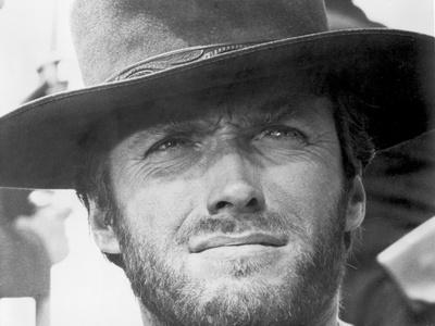 Clint Eastwood Portrait in Classic with Cowboy's Hat