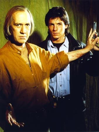 David Carradine With Cast Member