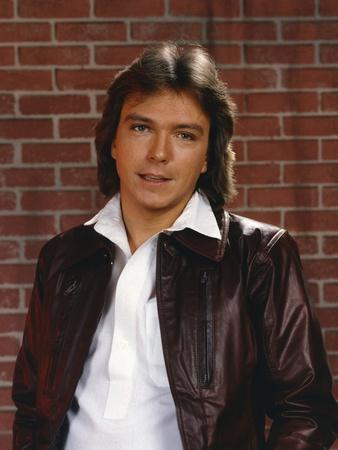 David Cassidy Posed in Brown Jacket