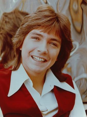 David Cassidy smiling in Red Vest