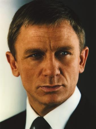 Daniel Craig Portrait in Black Tuxedo
