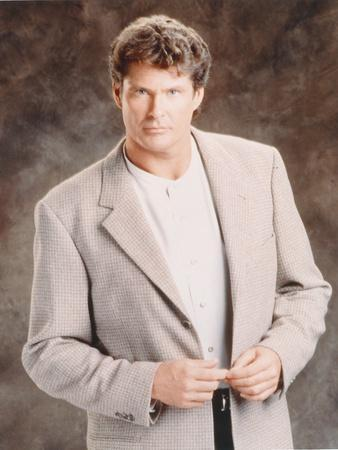 David Hasselhoff Posed in a Suit