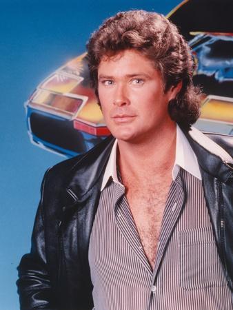 David Hasselhoff Portrait in Black Leather Jacket