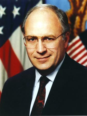 Dick Cheney Portrait in Black Coat