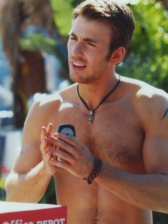 Chris Evans Topless Portrait