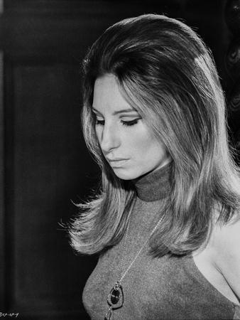 Barbra Streisand Portrait Looking Down With Necklace
