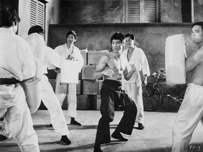 Bruce Lee wearing Black Pants in Action