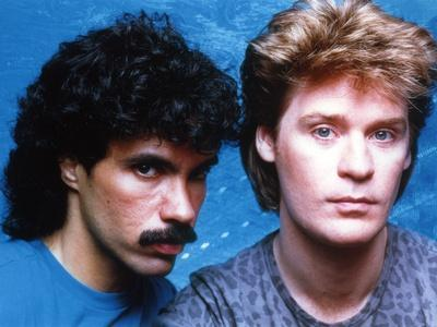 Hall & Oates in Blue Background Close Up Portrait