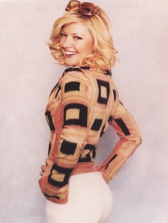 Gretchen Mol Posed in Yellow and Black Long Sleeve Shirt