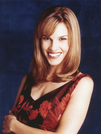 Hilary Swank smiling in Portrait