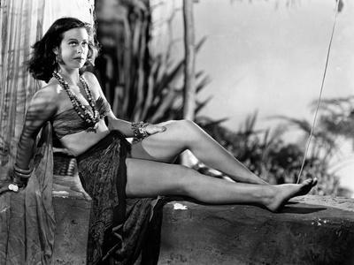 Hedy Lamarr Lying in Midriff with Necklace