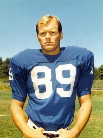 Fred Dryer in Football Uniform Portrait