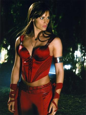 Jennifer Garner on a Red Top and Bottom Portrait