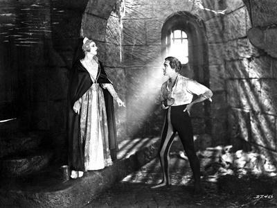 John Barrymore Talking with a Lady in a Classic Movie Scene