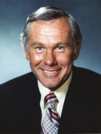 Johnny Carson smiling in Suit