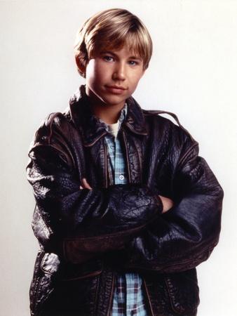 Jonathan Thomas Posed in Black Leather Jacket