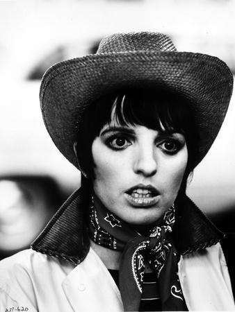 Liza Minnelli Close Up Portrait with Hat