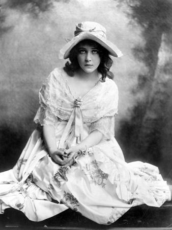 Mary Pickford on a Gown and sitting