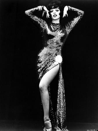 Liza Minnelli Portrait in Classic with Black Background