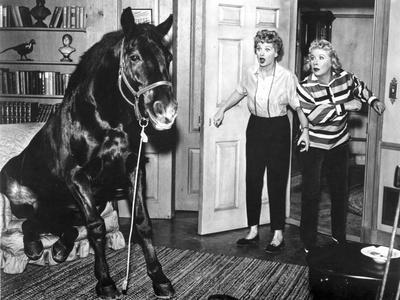 Lucille Ball Shocked with Woman in Movie Scene
