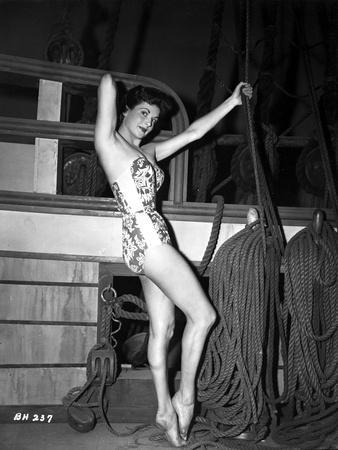 Nicole Maury Holding Rope in Black and White