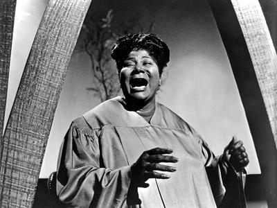 Mahalia Jackson Posed in Classic