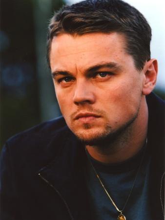 Leonardo Dicaprio in wearing Black Leather Jacket Close Up Portrait