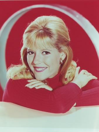 Meredith MacRae Leaning in Sweater Portrait