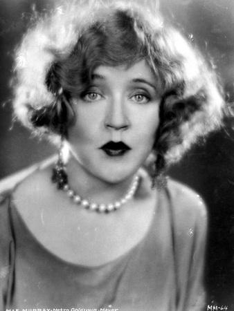 Mae Murray on a Pearl Necklace Portrait