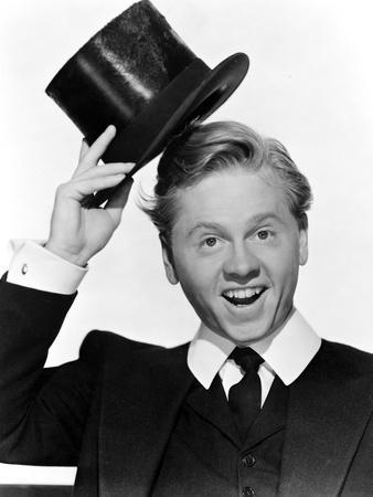Mickey Rooney in posed in Portrait