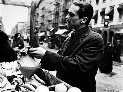 Marlon-GF Brando Scene with a Man Holding a Paper Bag- Photograph Print