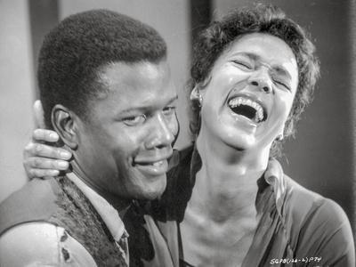 Porgy And Bess smiling in Black and White Close Up Couple Portrait