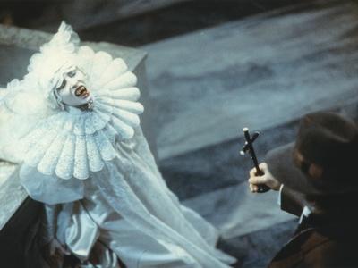 Sadie Frost in White Demon Costume Movie Scene