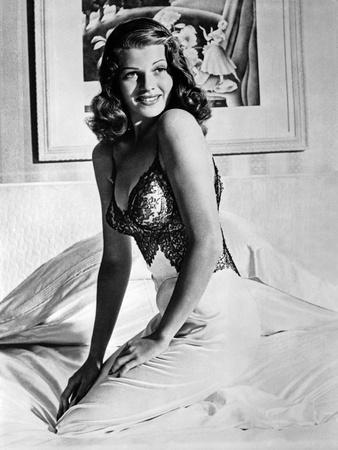 Rita Hayworth Posed Sideways Facing Forward