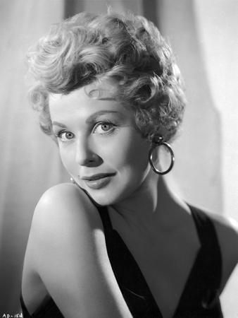 Portrait of Arlene Dahl with Hook Earrings