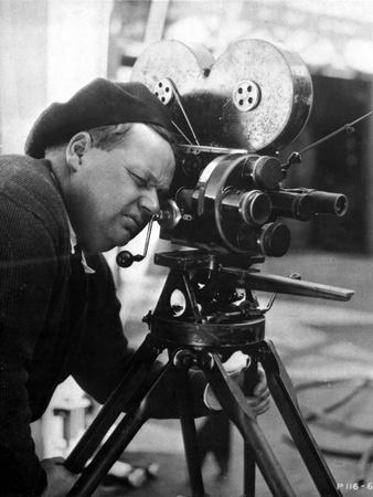 Roscoe Arbuckle Posed in Director Attire With Video Recorder