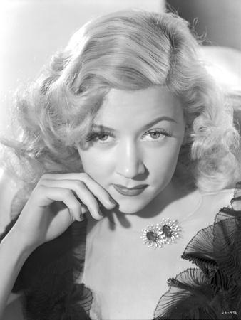 Portrait of Gloria Grahame Posed Curly Hair