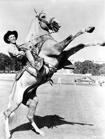 Roy Rogers Rides a Rearing Horse